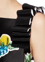 Mix fruit print duchesse satin dress