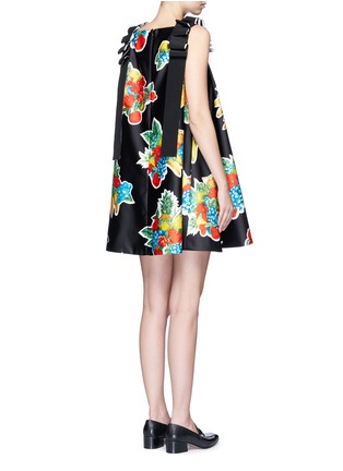 Back View - Click To Enlarge - VICTORIA, VICTORIA BECKHAM - Mix fruit print duchesse satin dress