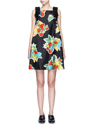 Main View - Click To Enlarge - VICTORIA, VICTORIA BECKHAM - Mix fruit print duchesse satin dress