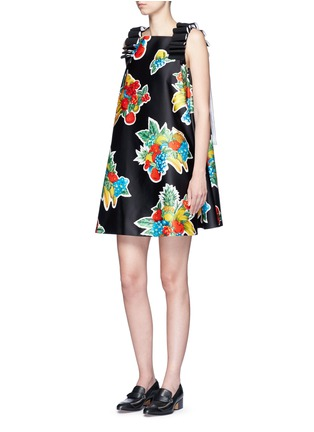 Figure View - Click To Enlarge - VICTORIA, VICTORIA BECKHAM - Mix fruit print duchesse satin dress
