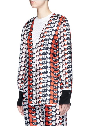 Front View - Click To Enlarge - VICTORIA, VICTORIA BECKHAM - Strawberry print silk twill pyjama shirt