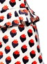 Detail View - Click To Enlarge - VICTORIA, VICTORIA BECKHAM - Pleat trim strawberry jacquard skirt