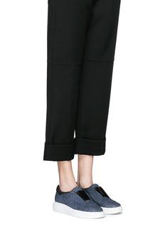 PEDDER RED'Lory' neoprene collar foil print suede slip-on sneakers