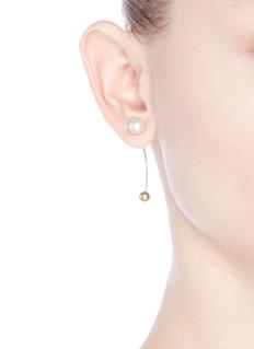 Sophie Bille Brahe'Elipse' pearl 14k gold single earring