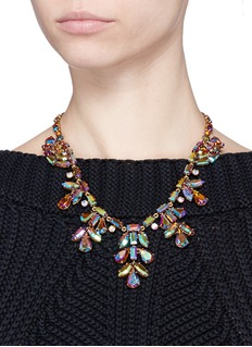 J.CREW Crystal ivy necklace