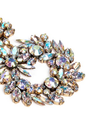 Detail View - Click To Enlarge - J.CREW - Crystal wreath earrings