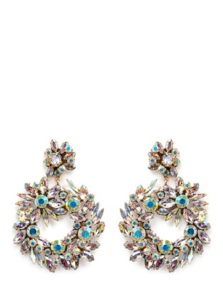 Main View - Click To Enlarge - J.CREW - Crystal wreath earrings