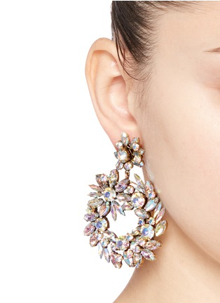 Figure View - Click To Enlarge - J.CREW - Crystal wreath earrings