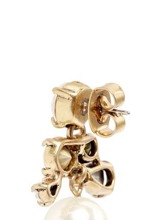 细节 - 点击放大 - J.CREW - 仿水晶人造珍珠垂坠耳环