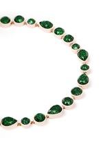 Sea glass brulée necklace