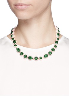 J.CREW Sea glass brulée necklace