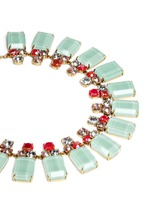 Frosted lucite necklace
