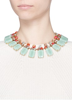 J.CREW Frosted lucite necklace