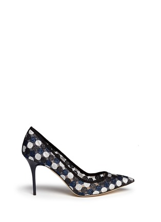 Main View - Click To Enlarge - J CREW SHOES - Collection Elsie circle lace pumps