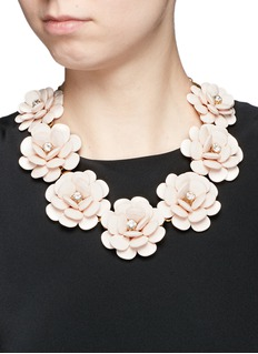 J.CREW Beaded rose necklace