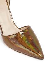 'Elsie' crackled hologram d'Orsay pumps