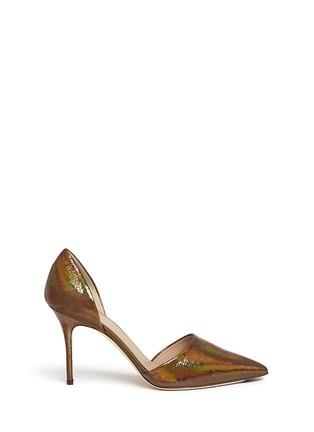 Main View - Click To Enlarge - J CREW SHOES - 'Elsie' crackled hologram d'Orsay pumps