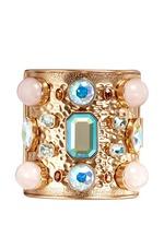 Wide crystal cuff bracelet