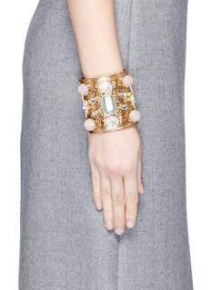 J.CREWWide crystal cuff bracelet