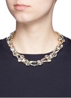 J.CREW Mixed crystal necklace