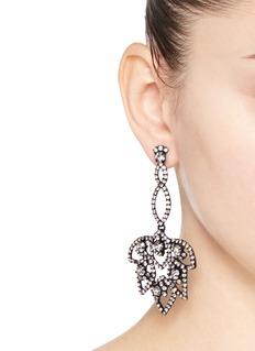 J.CREWLotus pavé earrings