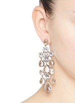 Cascading glass earrings
