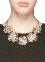 Jeweled geometric necklace