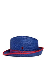 'Zeus Crochet' braided band Panama hat