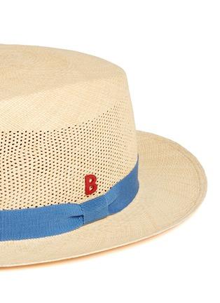 细节 - 点击放大 - MY BOB - 镂空结饰巴拿马草帽