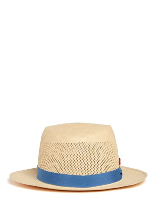 Main View - Click To Enlarge - My Bob - Après-Midi' open weave straw Panama hat
