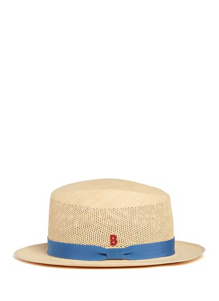 Figure View - Click To Enlarge - My Bob - Après-Midi' open weave straw Panama hat