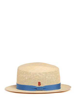 模特儿示范图 - 点击放大 - MY BOB - 镂空结饰巴拿马草帽