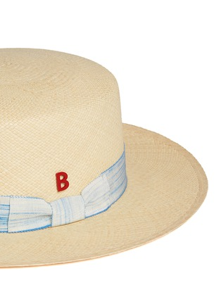 Detail View - Click To Enlarge - My Bob - Streak band straw boater hat