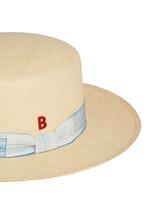 Streak band straw boater hat
