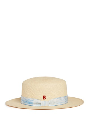Figure View - Click To Enlarge - My Bob - Streak band straw boater hat
