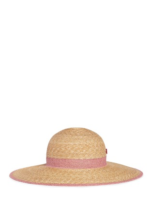 My Bob - Paper trim wide brim straw capeline hat