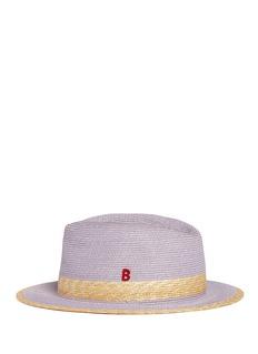 MY BOB'Folco' paper trim straw Panama hat