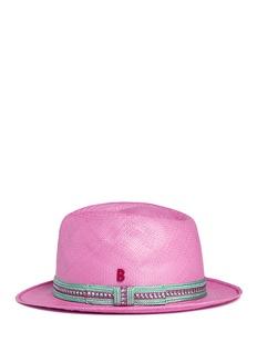 MY BOB'24 Hours' braided band Panama hat