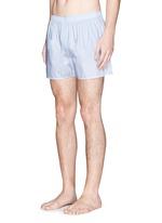 Dash grid print boxer shorts
