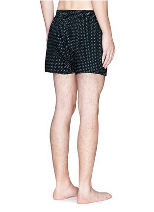 Back View - Click To Enlarge - Sunspel - Circle dot print boxer shorts