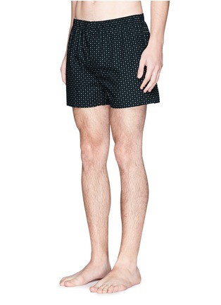 Figure View - Click To Enlarge - Sunspel - Circle dot print boxer shorts