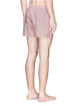 Sunspel-Dash dot print boxer shorts
