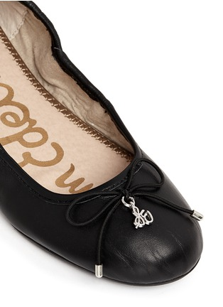 Detail View - Click To Enlarge - Sam Edelman - 'Felicia' leather junior ballet flats