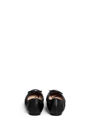 Back View - Click To Enlarge - Sam Edelman - 'Felicia' leather junior ballet flats