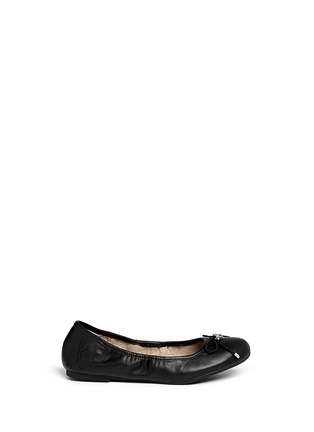 Main View - Click To Enlarge - Sam Edelman - 'Felicia' leather junior ballet flats