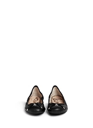 Figure View - Click To Enlarge - Sam Edelman - 'Felicia' leather junior ballet flats
