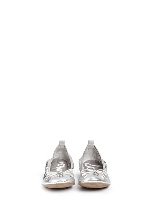 Figure View - Click To Enlarge - Sam Edelman - 'Farren' metallic faux leather junior ballerina flats