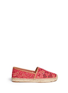 TORY BURCH'Lucia' lace espadrilles