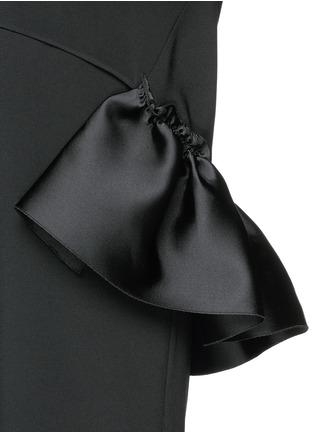Detail View - Click To Enlarge - Stella McCartney - Satin ruffle trim crepe dress