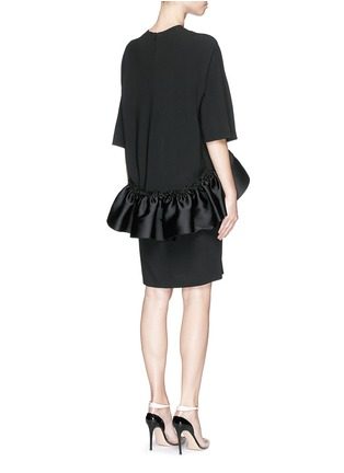 Back View - Click To Enlarge - Stella McCartney - Satin ruffle trim crepe dress